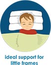 Slim Pillow - Ideal support for little or small frames